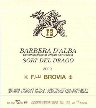 Brovia Barbera d'Alba Sori del Drago D.O.C