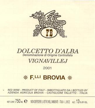 Brovia Nebbiolo d'Alba Valmaggione  D.O.C.