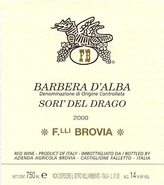 Brovia Barbera d'Alba Ciabot D.O.C